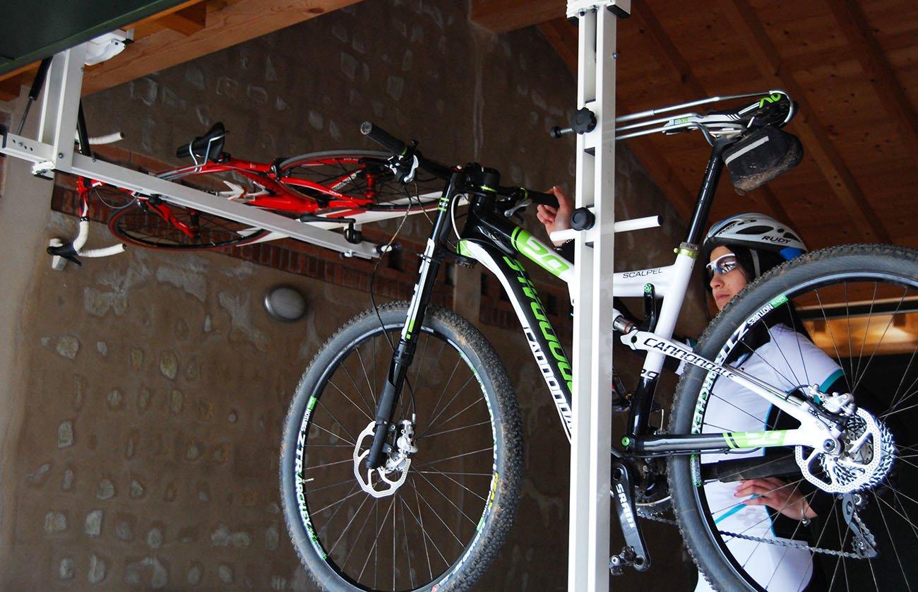 Ceiling Overhead Bike Rack For Mountain Bike Trekking