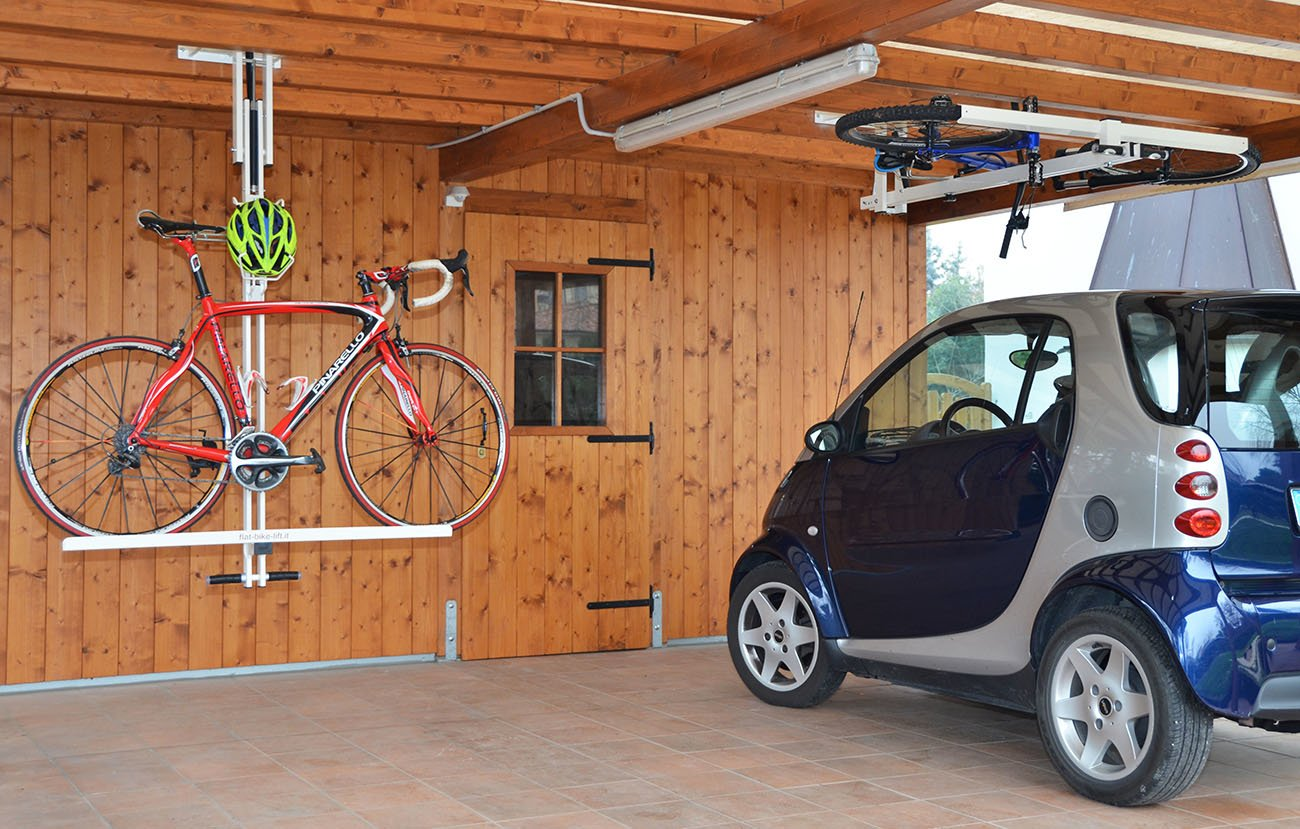 ceiling bike lift for garages hallways basements flat bike lift. Black Bedroom Furniture Sets. Home Design Ideas