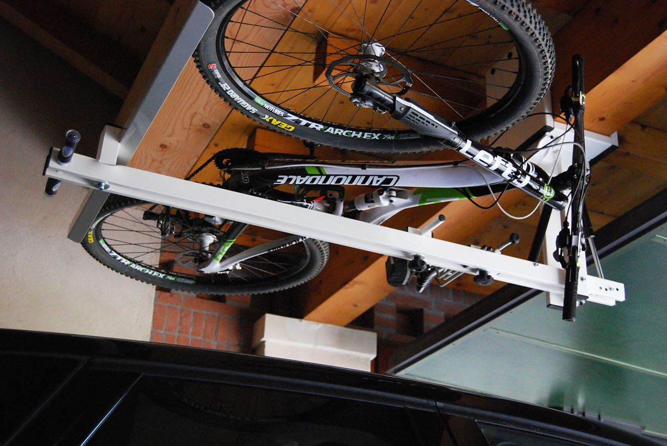 ceiling bike lift for garages hallways basements flat bike lift. Black Bedroom Furniture Sets. Home Design Ideas